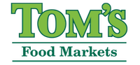 A theme logo of Tom's Food Markets
